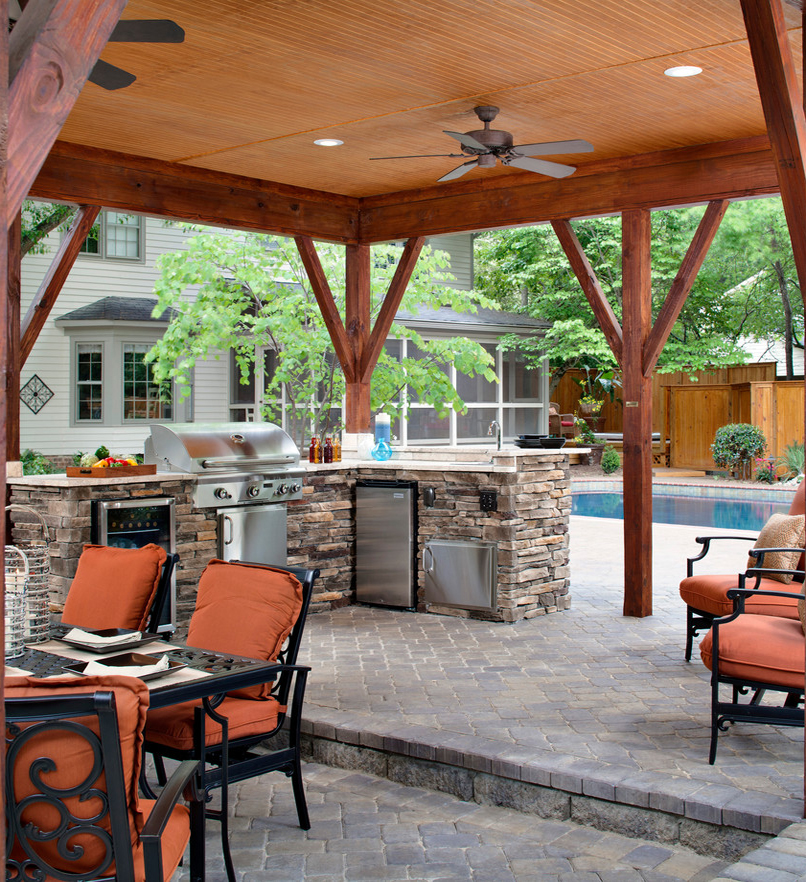 archadeck outdoor kitchen patio pool barbeque