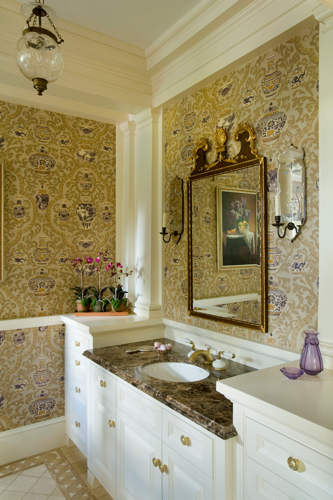 Luxuriousbetterdecoratingbible for Stone bathroom wallpaper