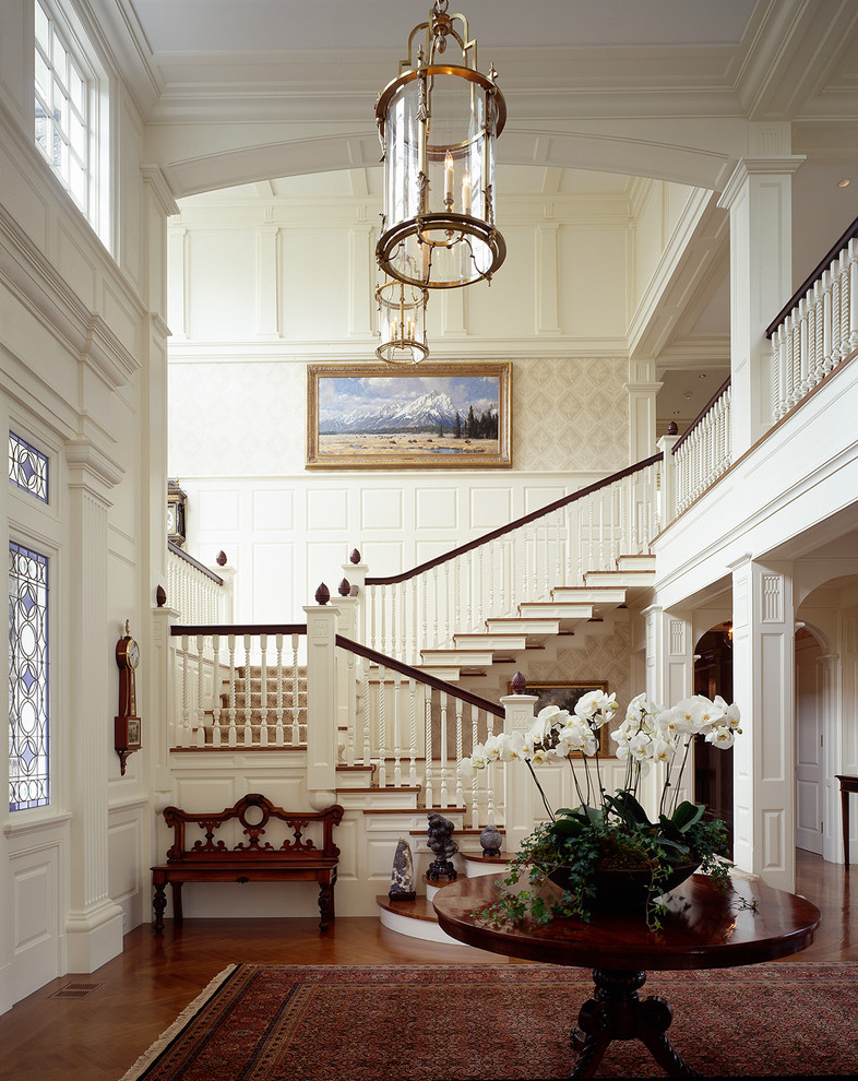 Stairs In Foyer : Wood paneling betterdecoratingbible