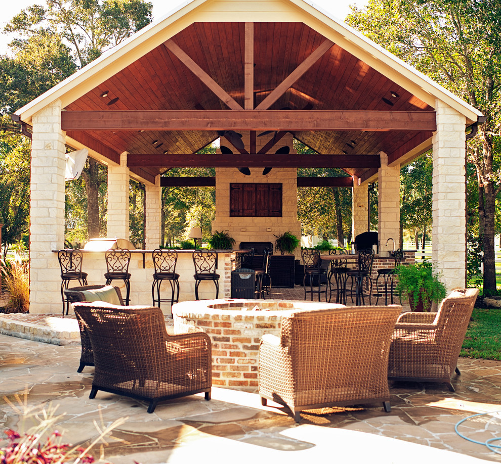 Spring prep 101 creating an outdoor kitchen for Covered outdoor kitchen designs