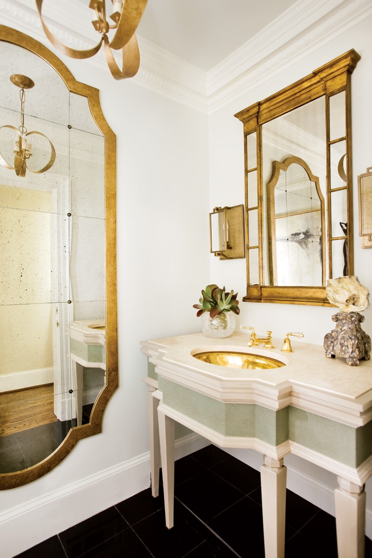 the enchanted home gold bathroom mirror sink french style decor luxurious better decorating bible blog ideas