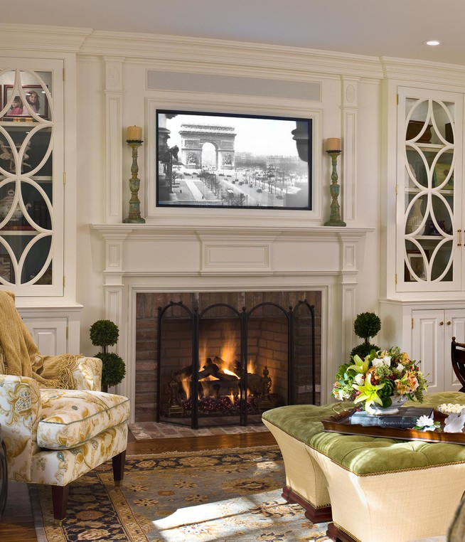 Tv Room Design Ideas: Placing A TV Over Your Fireplace