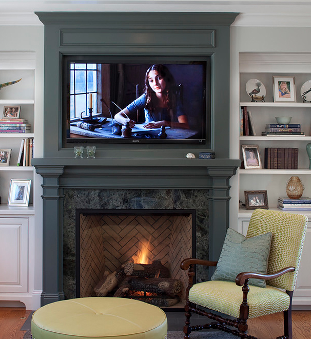 Placing a tv over your fireplace a do or a don 39 t for Decor over fireplace