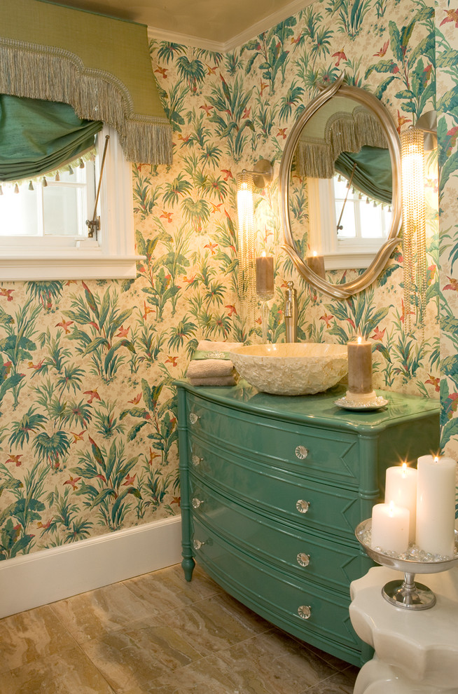 Makeover your bathroom with these 6 easy vanity ideas for Bathroom decorating ideas wallpaper
