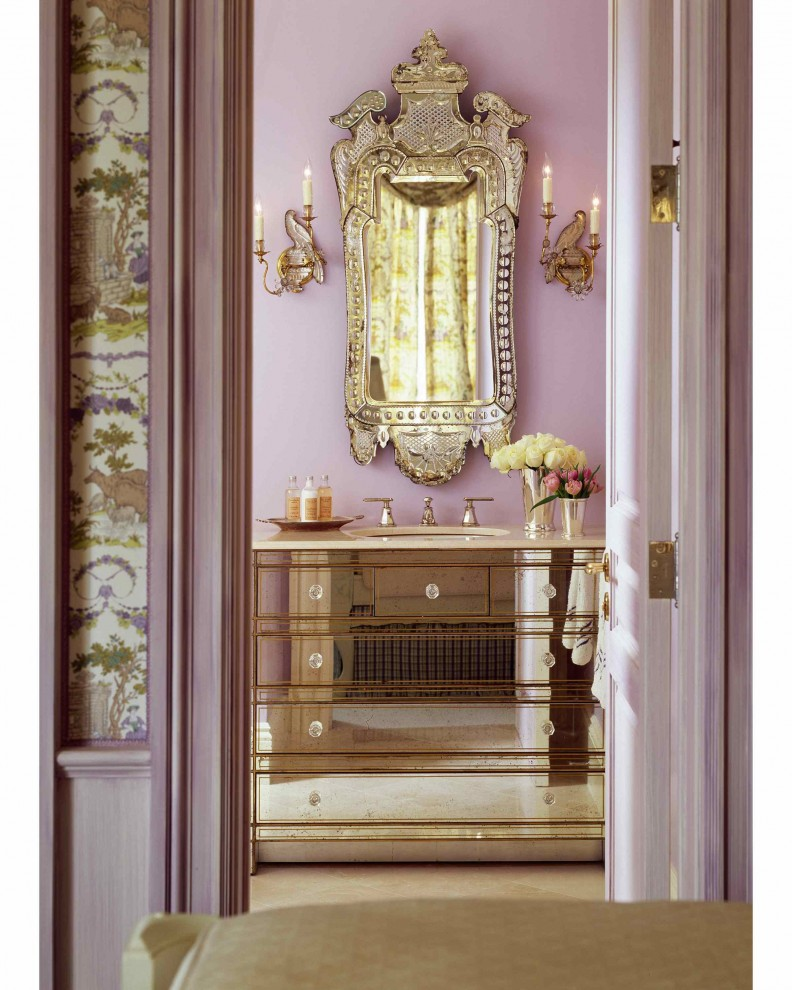 Makeover your bathroom with these 6 easy vanity ideas betterdecoratingbiblebetterdecoratingbible Purple and gold bathroom accessories