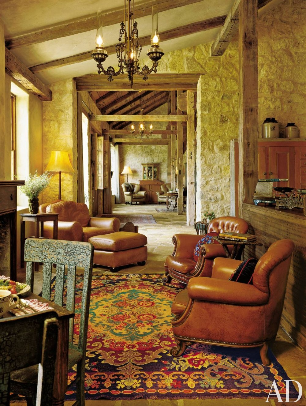 Rustic Living Room: Rustic-living-room-fredericksburg-texas-200506-2_1000