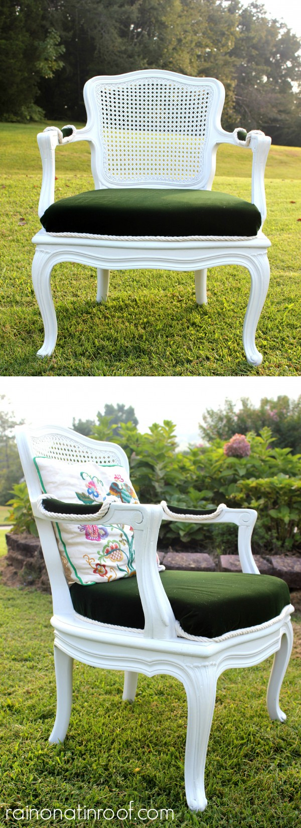 7 french country chair reupholstery makeover how to paint fabric copy