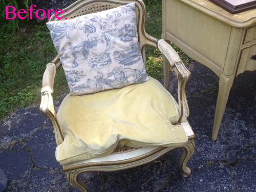 8 french country chair reupholstery makeover how to paint fabric copy