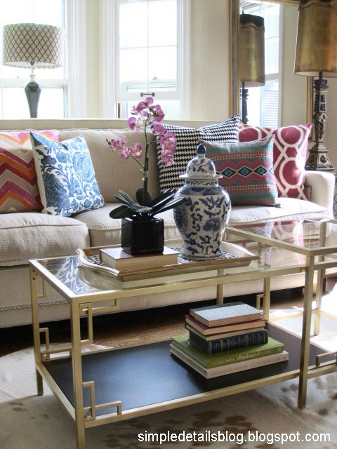 diy ikea hack coffee table greek key living room project makeoever easy how to spray paint gold