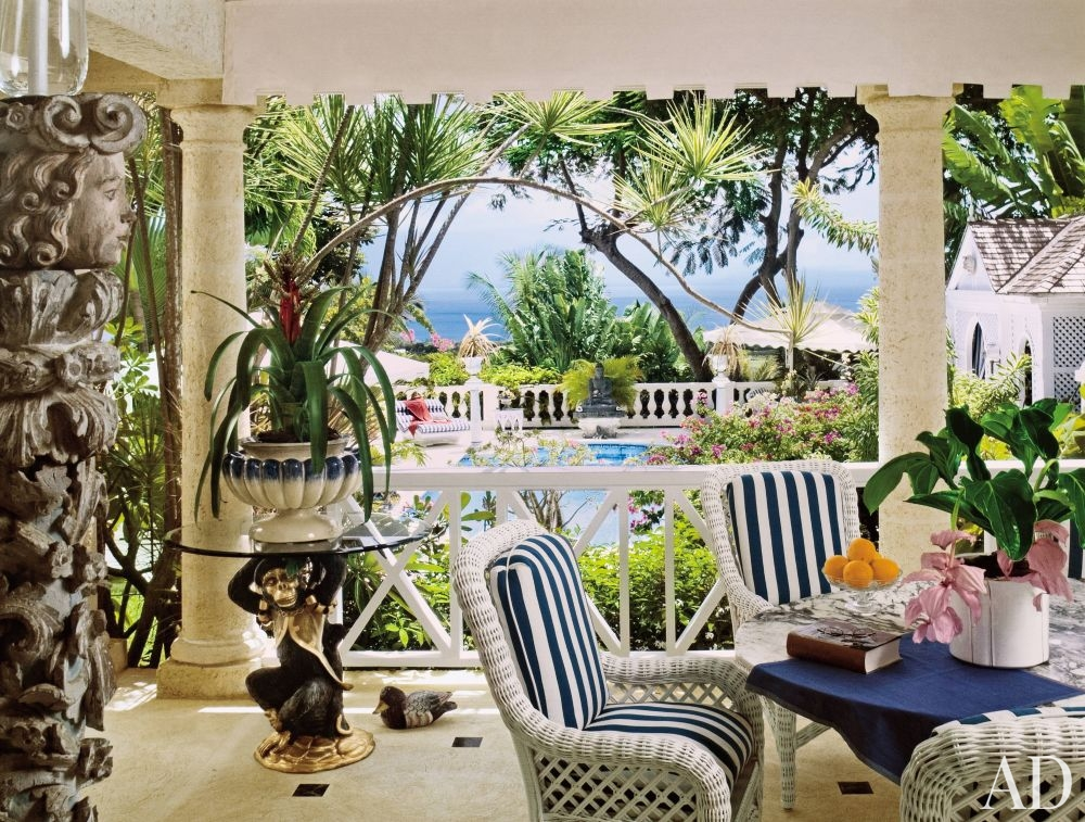 Exotic Outdoor E Barbados Patio Decorating Around Your Pool