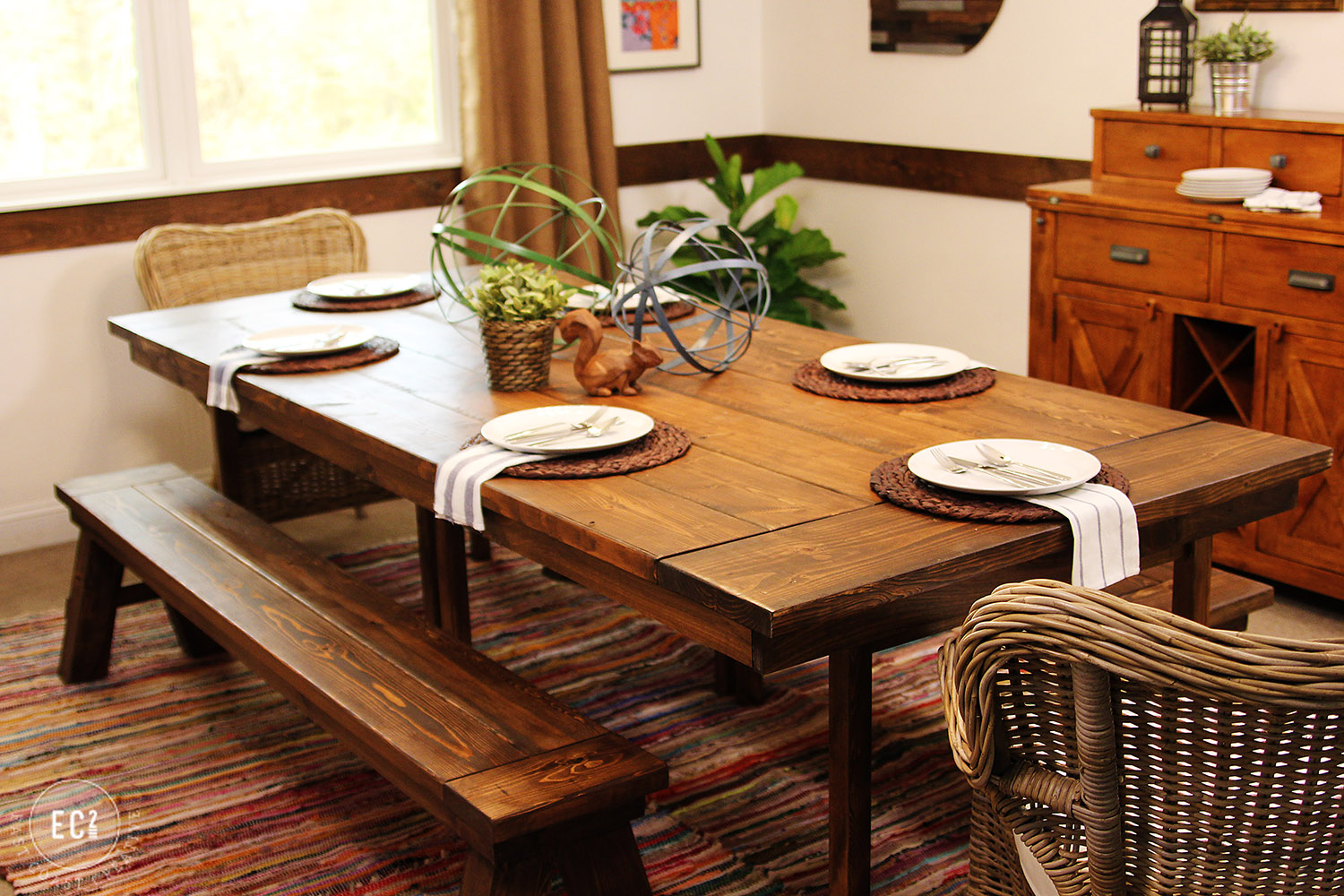 farm house table ikea hack diy build wood easy how to project budget makeover