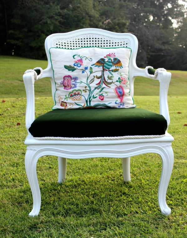 french country chair reupholstery makeover how to paint fabric