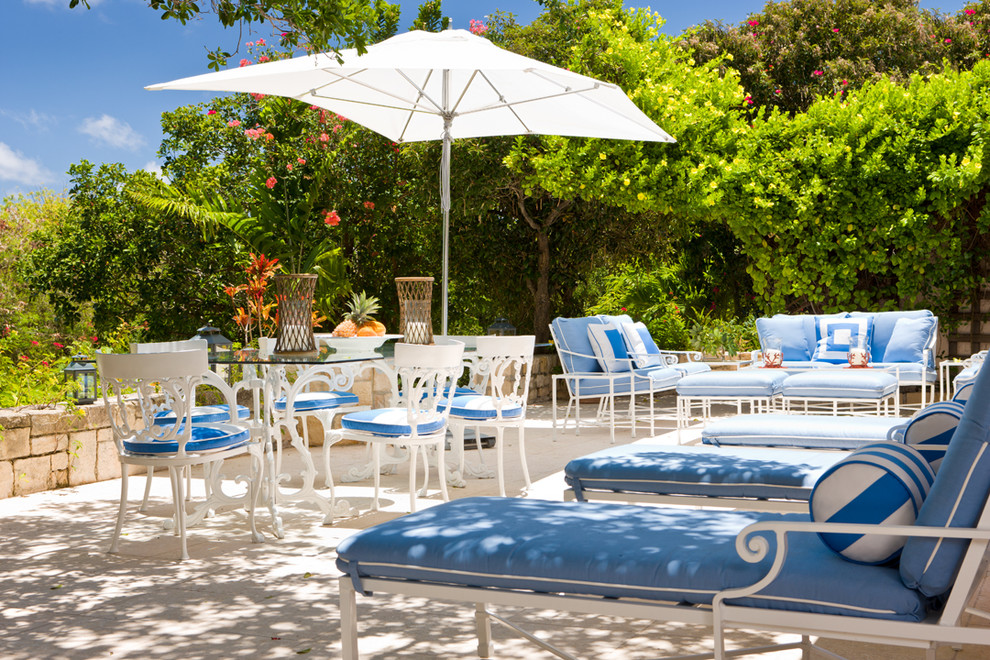 gary mcbournie outdoor patio blue lounge chairs