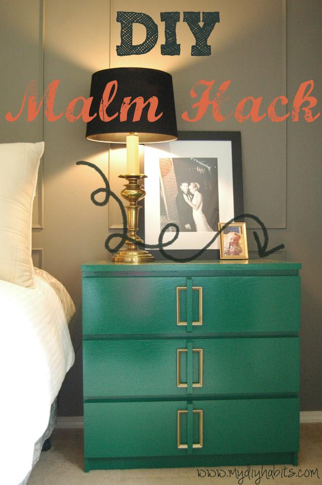 ikea hack diy makeover malm dresser side table easy