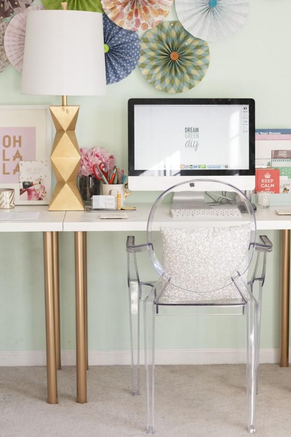 ikea hack gold desk legs project easy diy