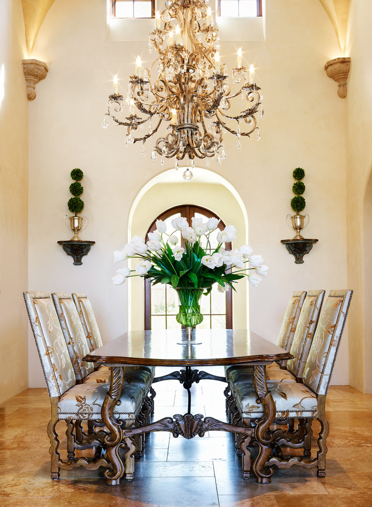 janet brooks design chandelier decorating Mediterranean-Dining-Room
