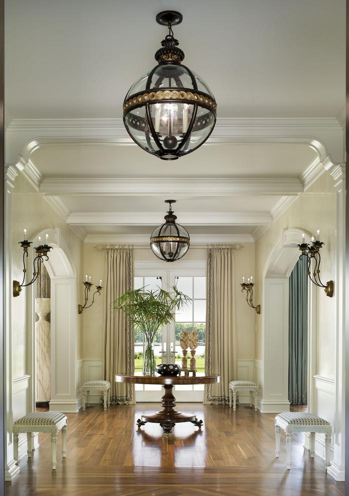 michael whaley interiors hallway bowl chandelier glass better decorating bible blog