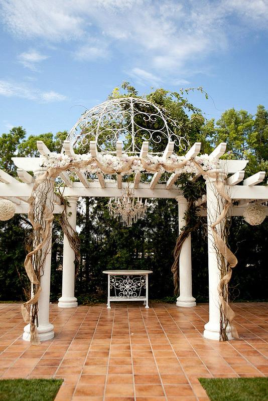 outdoor wedding chandelier reception decor