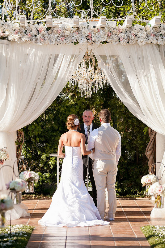 soiree design outdoor wedding chandelier flowers ideas roses flowers better decorating bible blog easy white pink gray