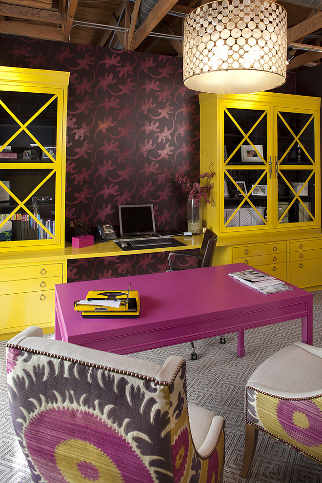 tineke triggs yellow office decorating suzani studded chairs chandelier better decorating bible blog