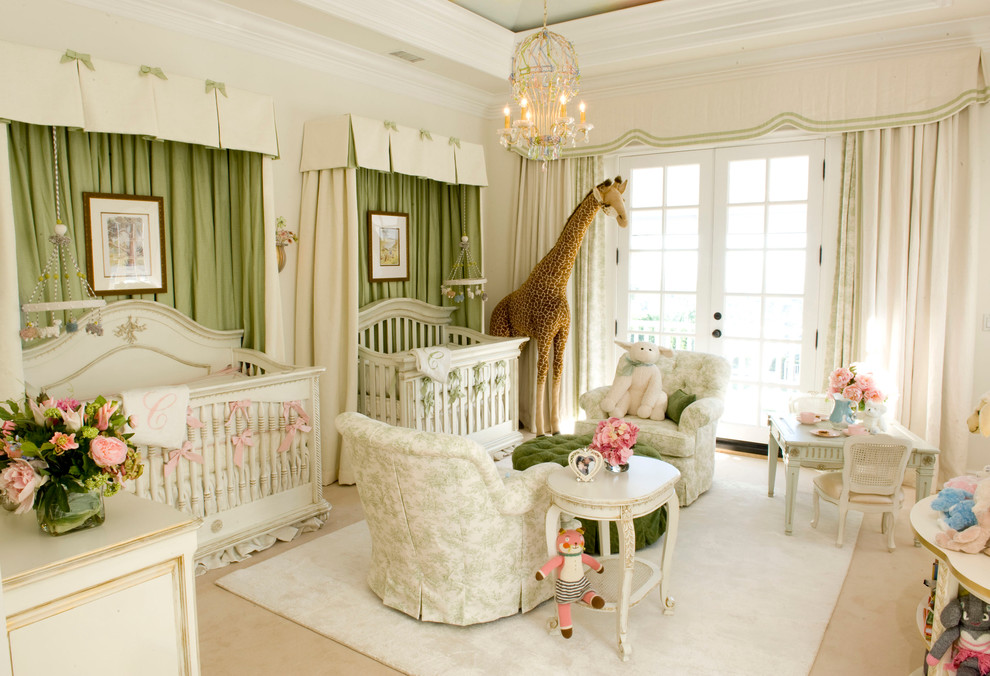 Babys Room Mariah Carey Green Apple Walls Curtains Furniture French Toile  Better Decorating Bible BlogTraditional