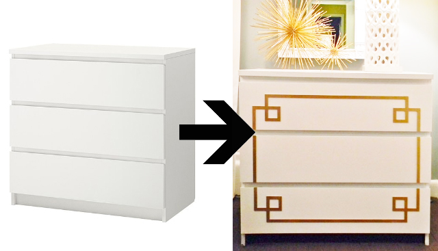 Add instant glam to your ikea furniture using overlays Ikea furniture makeover