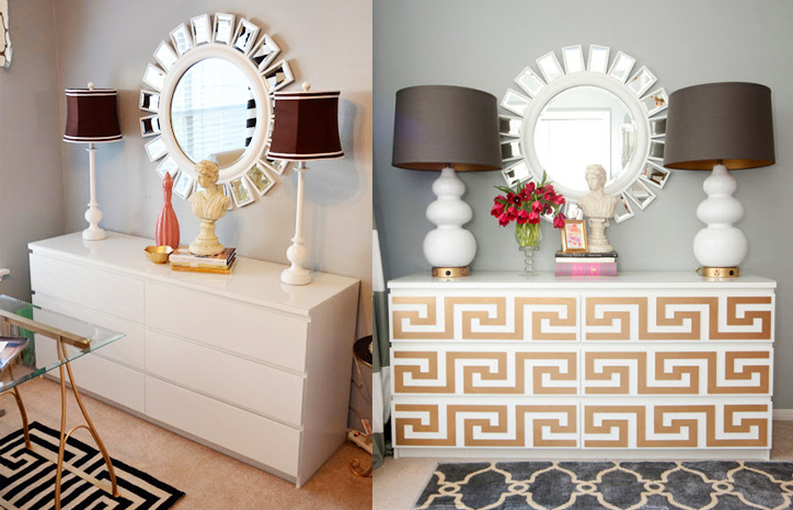 Amazing Add Instant Glam To Your Ikea Furniture Using Overlays