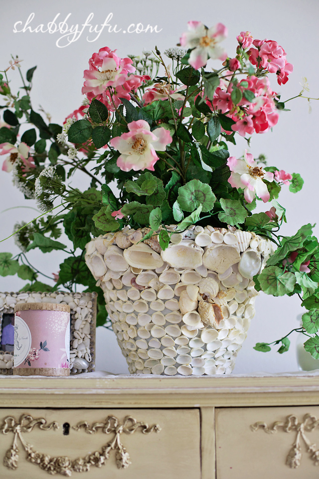 diy seashell vase easy better decorating bible