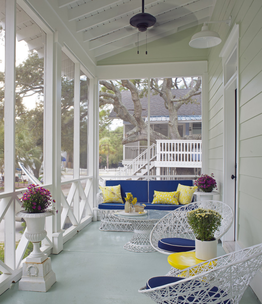 front decor better decorating bible blog coastal ideas blue yellow cushions Beach-Style-Porch