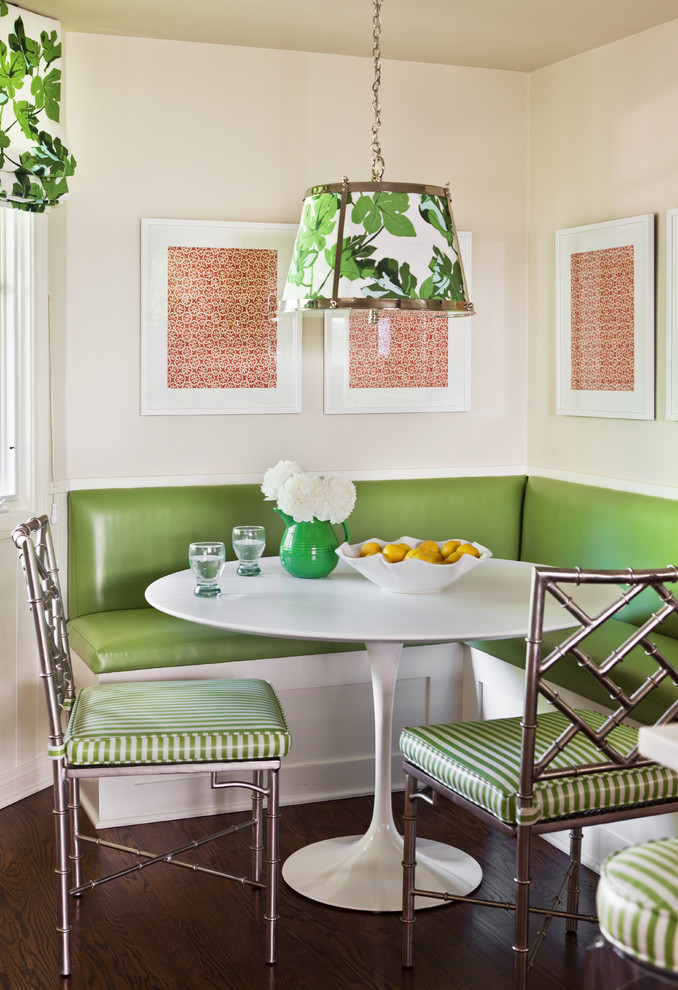 green glossy furniture Contemporary-Dining-Room