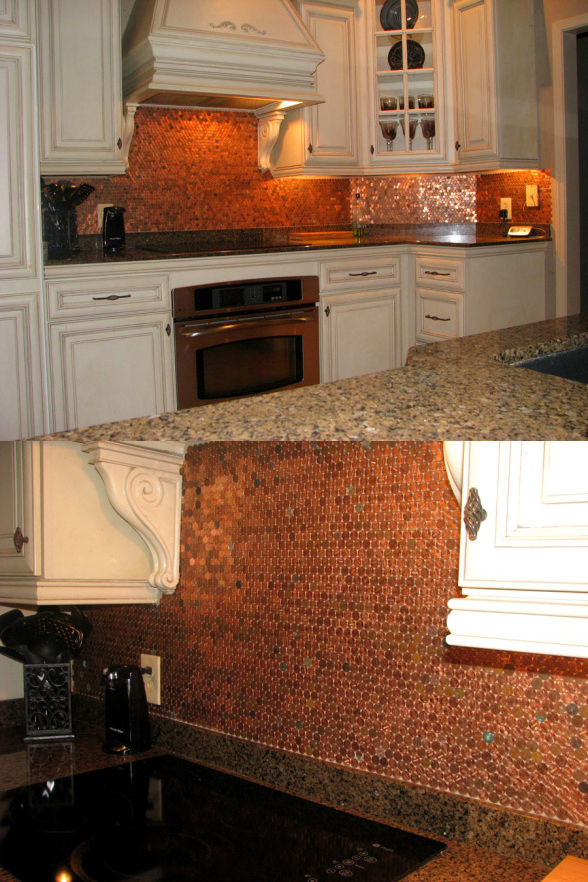 penny backsplash diy how to easy grout tiles better decorating bible blog kitchen easy budget