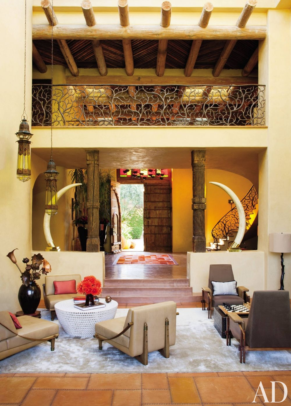 plaster walls living room exotic african decor style better decorating bible blog