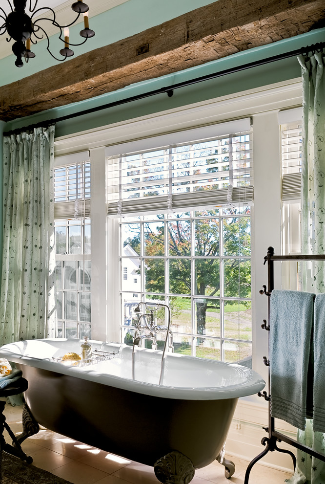 venetian blinds country Traditional-Bathroom
