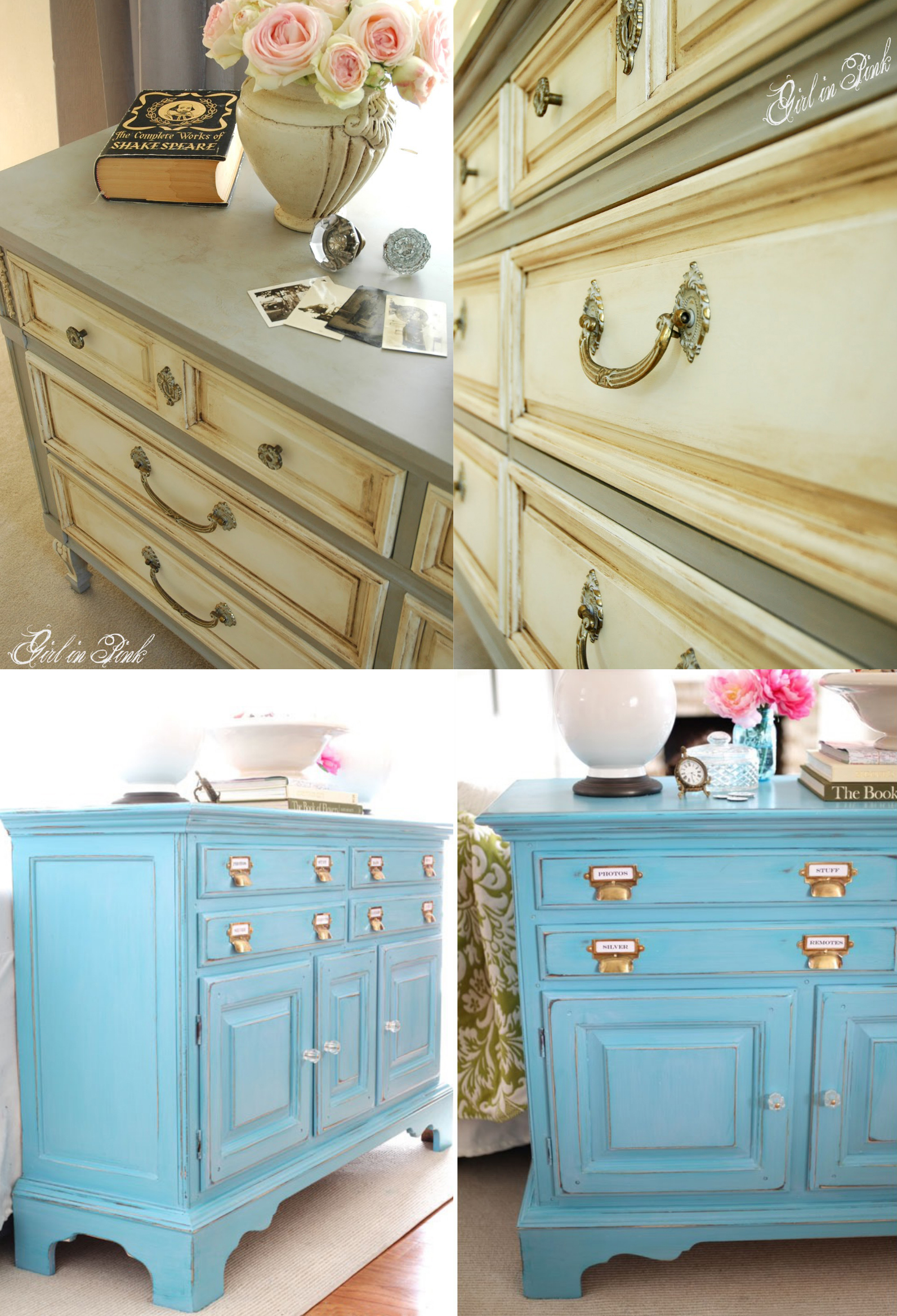 chalk paint buffet media console aged sanding redo makeover better decorating bible blog