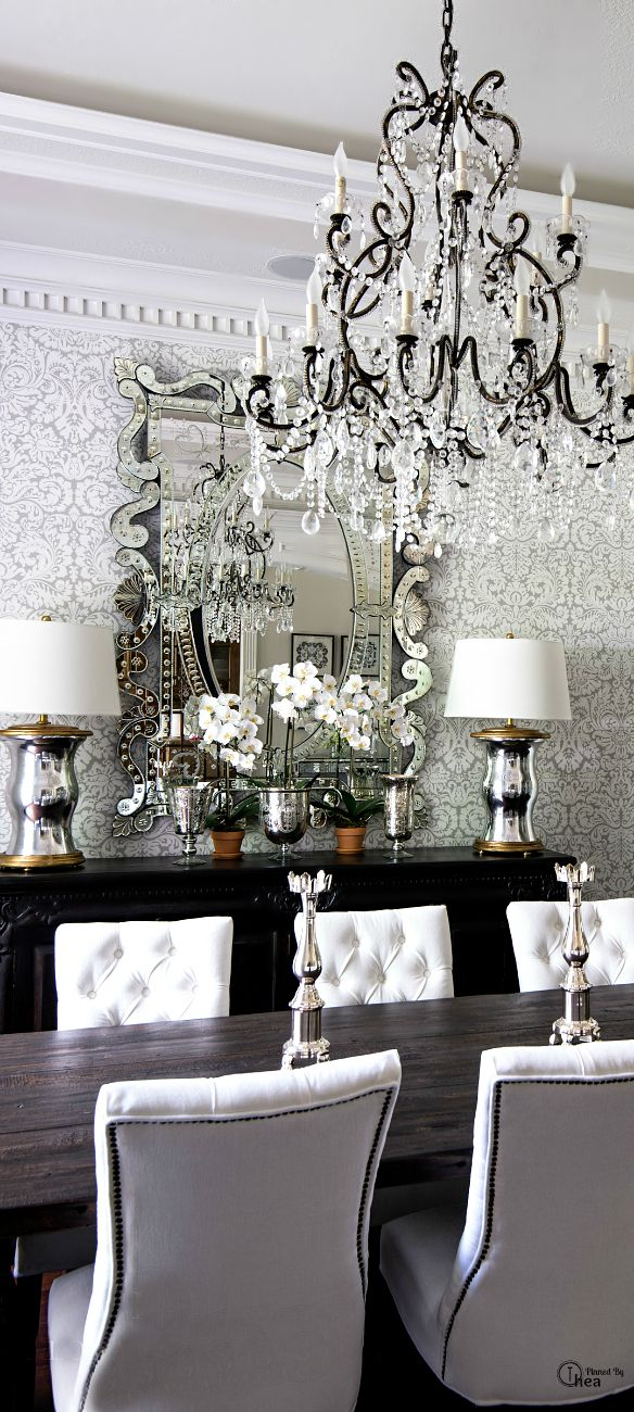 For the home on pinterest paris apartments parisian for White dining room ideas