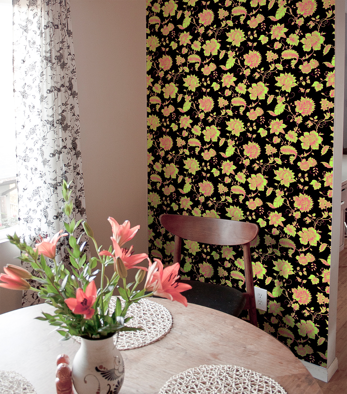 diy decor wallpaper tiles for renters apartment decor floral accent wall easy temporary