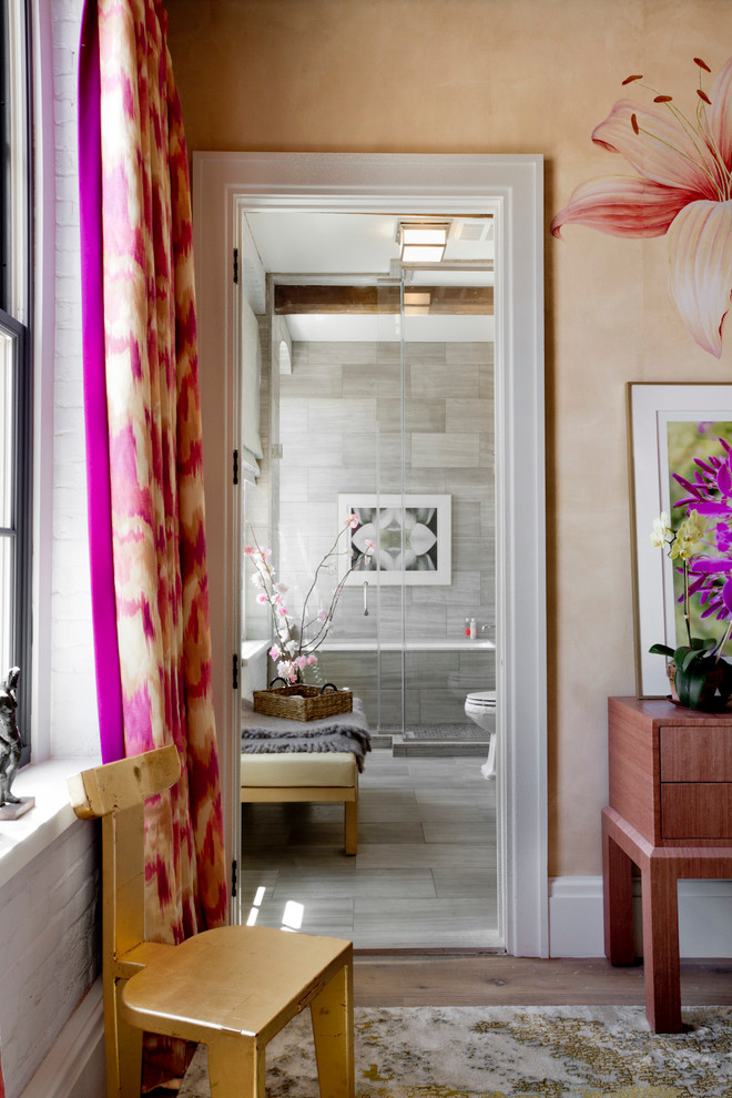 floral ikat pink curtains decorating girly gold chair bedroom