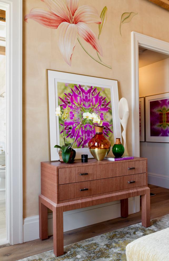 flower print wallpaper lily bedroom decorating modern graphic art bedroom