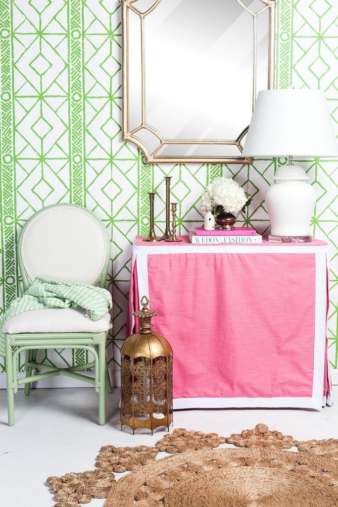 gold mirror society social pink table cover