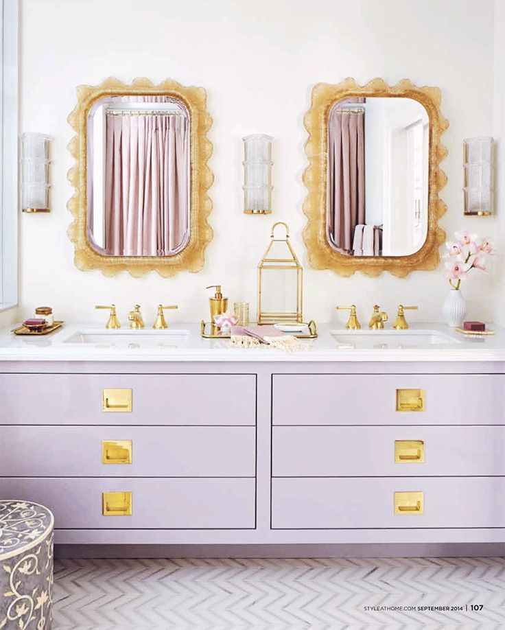 This shop is interior design s hidden gem great deals on glamorous trendy furniture Purple and gold bathroom accessories
