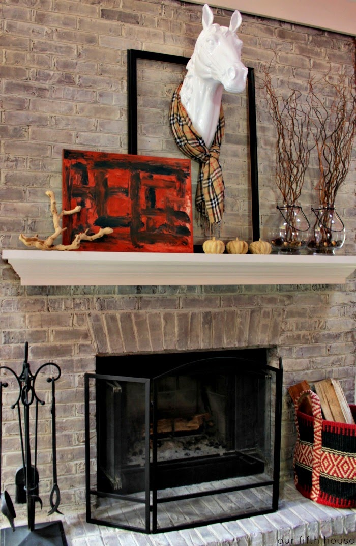fall decorating ideas mantel