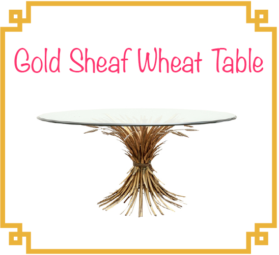 gold sheaf wheat table the high boy antique shop coco chanel apartment paris