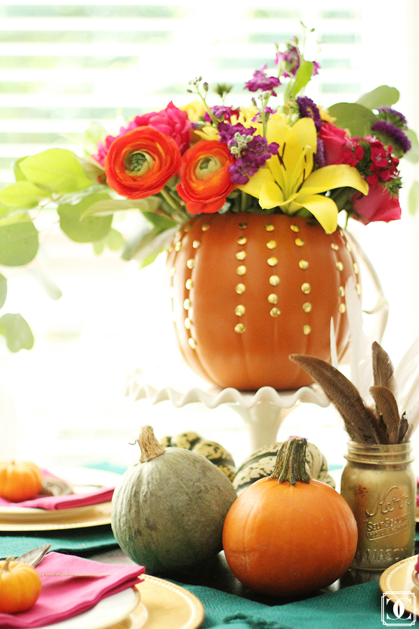 pumpkin fall home decor ideas thanksgiving halloween home dining table