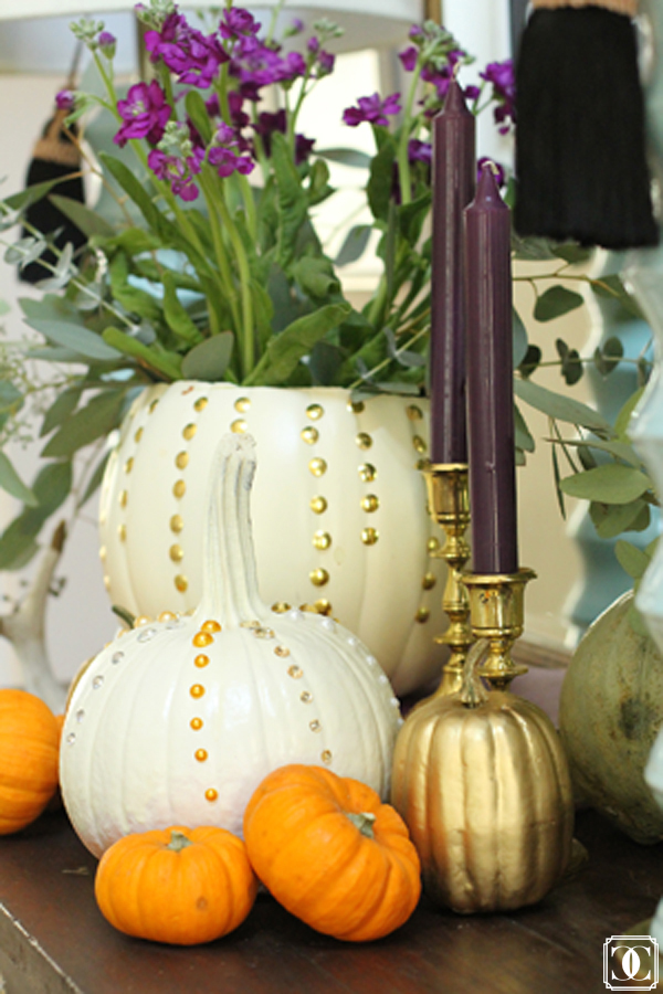studded pumpkins thumb tacks