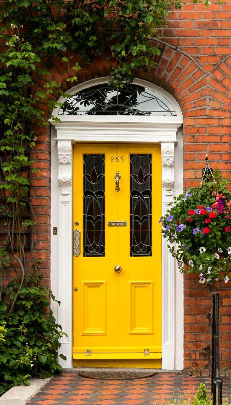 bright yellow front door victorian