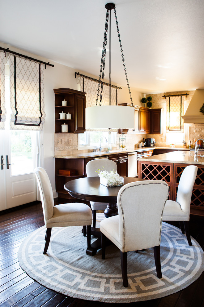 dining room circle rug studded dining chairs better decorating bible blog interior design kitchen dark laquered hardwood floors
