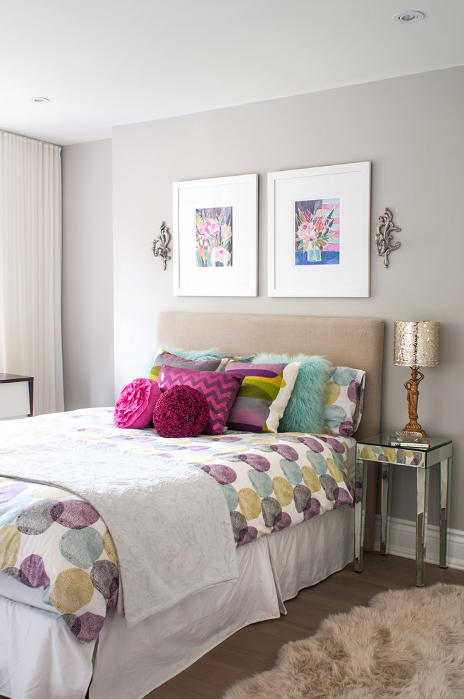 Fun Guest Bedroom How To Decorate Mint Blue Furry Pillows Rose Taupe Sheep Skin Carpet Hide