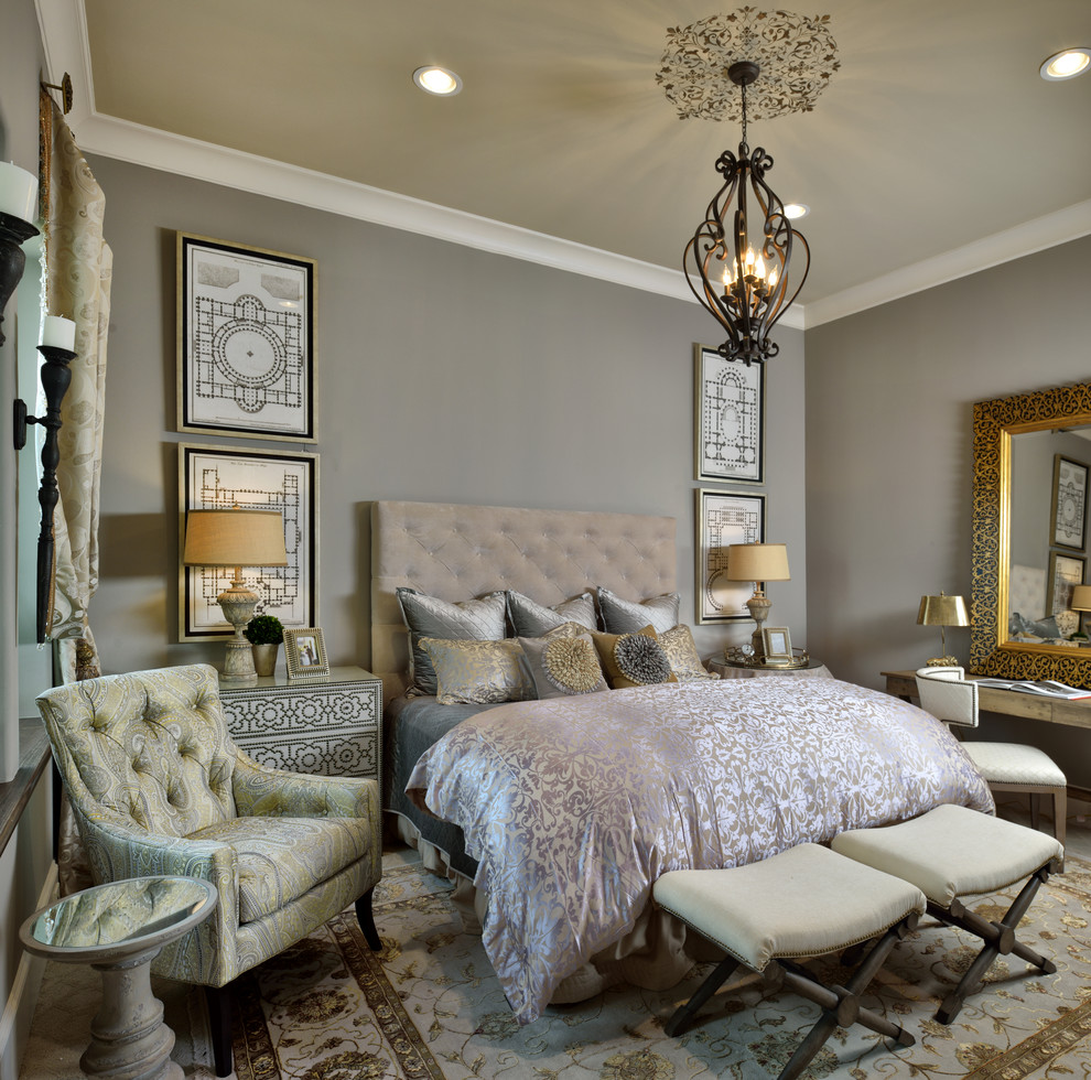 how to decorate a guest bedroom ideas damask silk duvet cover bedding green gray taupe end bench nail head dresser desk pot light recessed lighting better decorating bible blog tufted headboard silky pillows quilted