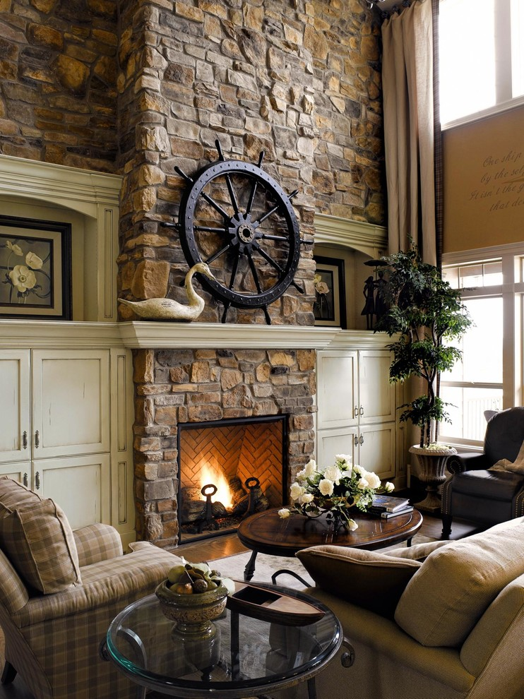 Rustic luxury how to get this new d cor trend at home - Images of stone fireplaces ...