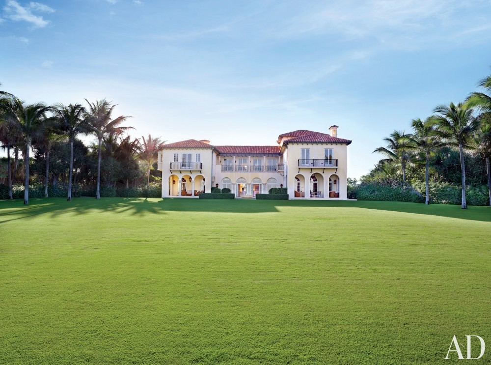 traditional-exterior-david-easton-inc-palm-beach-flordia meditteranean mansion